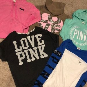 PINK Victoria's Secret • Bundle of 5 Sweatshirts